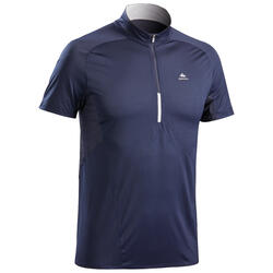 Men's Fast Hiking Short-sleeved T-Shirt FH500 - Blue Black