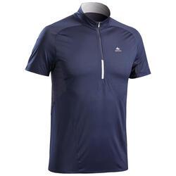 T-shirt voor fast hiking voor heren FH500 blauw/zwart