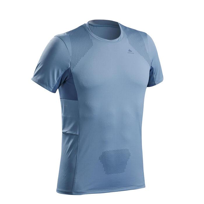 Wandelshirt met korte mouwen voor heren MH900 blauw