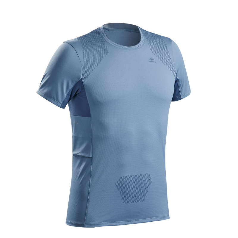 MEN MOUNTAIN HIKING TEE SHIRTS, PANTS Hiking - MEN'S T-SHIRT MH900 - Blue FORCLAZ - Hiking Clothes