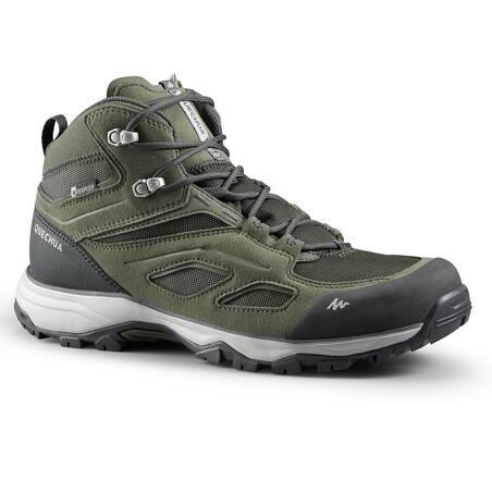 Botas impermeables de senderismo montaña - MH100 Mid Caqui - Hombre