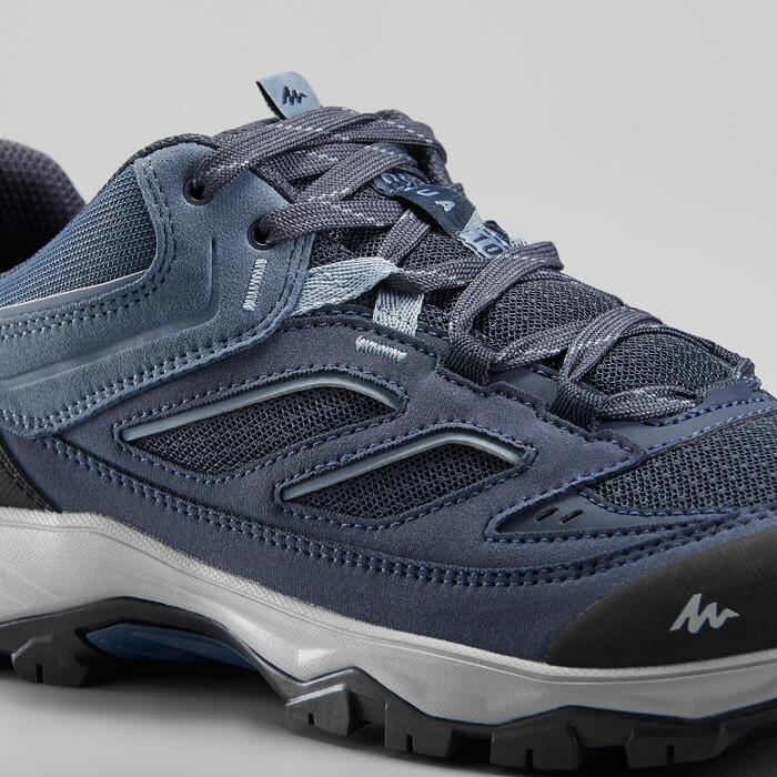 男款登山健行健走鞋MH100-藍色