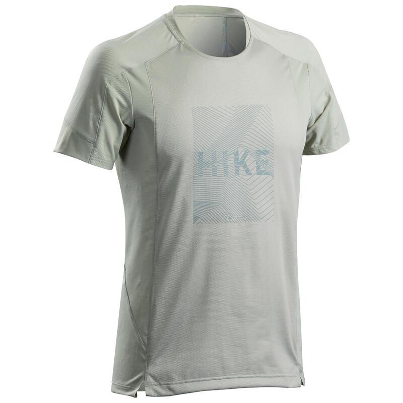 T-shirt montagna uomo MH 500 grigia