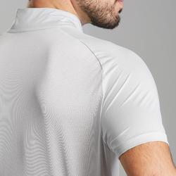 Men's Fast Hiking Short-sleeved T-Shirt FH500 – Lunar Grey