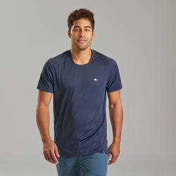 Men's Mountain hiking short-sleeved T-Shirt MH500