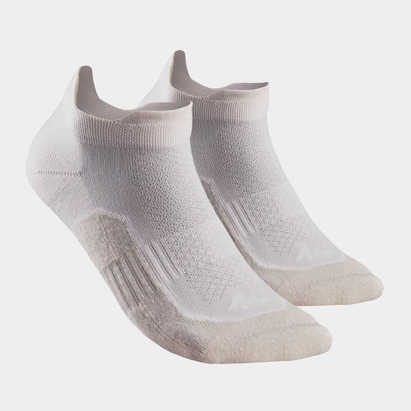 PONOŽKY NA HORSKOU TURISTIKU, DOSPĚLÍ Turistika - Nízké lněné ponožky NH500 2 ks QUECHUA - Turistické doplňky