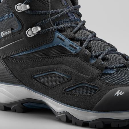 Sepatu Mendaki Gunung Anti Air Pria - MH100 Mid - Hitam