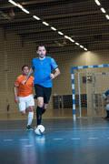 PÁNSKÉ OBLEČENÍ NA FUTSAL Futsal - FUTSALOVÉ KRAŤASY ČERNÉ  IMVISO - Oblečení na futsal
