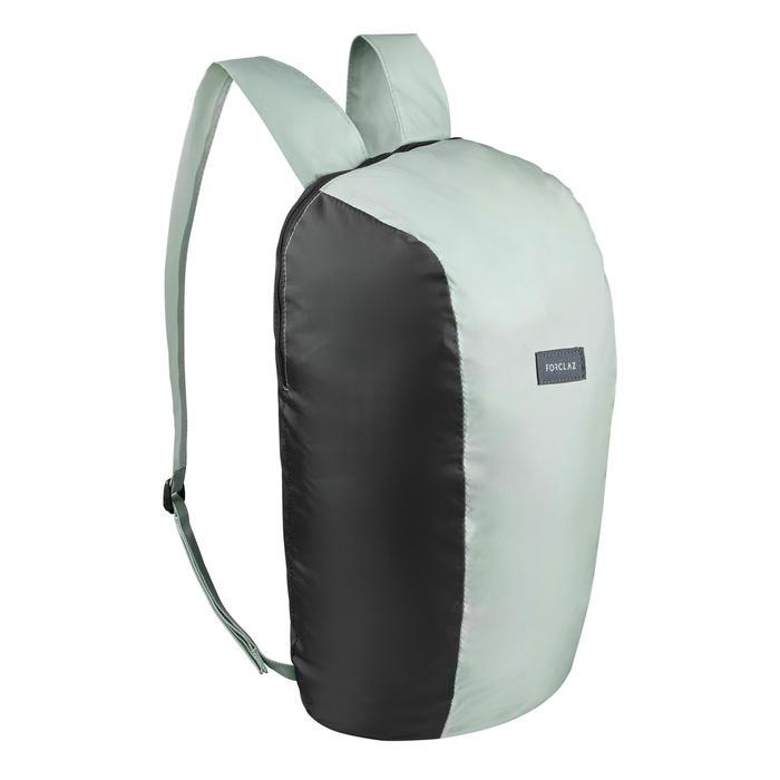Compacte rugzak voor backpacken 10 liter Travel 100 kaki