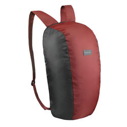 Compact 10 litre trekking travel rucksack TRAVEL 100 - Red