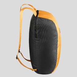 Compact 10 litre trekking travel rucksack TRAVEL 100 - Yellow
