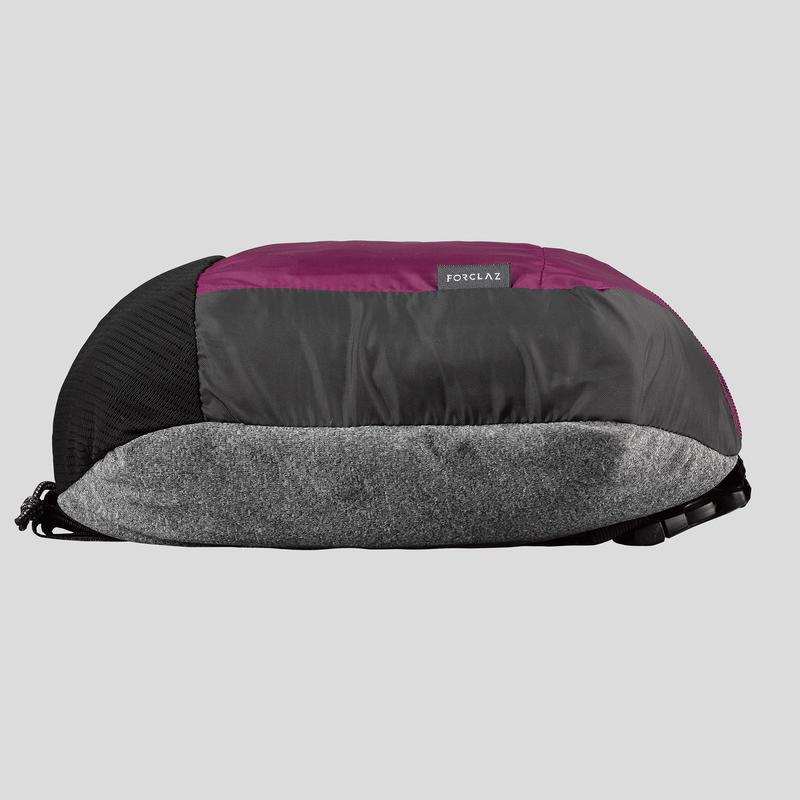 Compact 2 litre trekking travel bumbag TRAVEL 100 - Purple