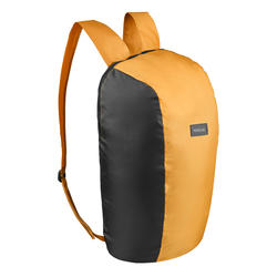 Compact 10 litre trekking travel rucksack TRAVEL 100 - Yellow