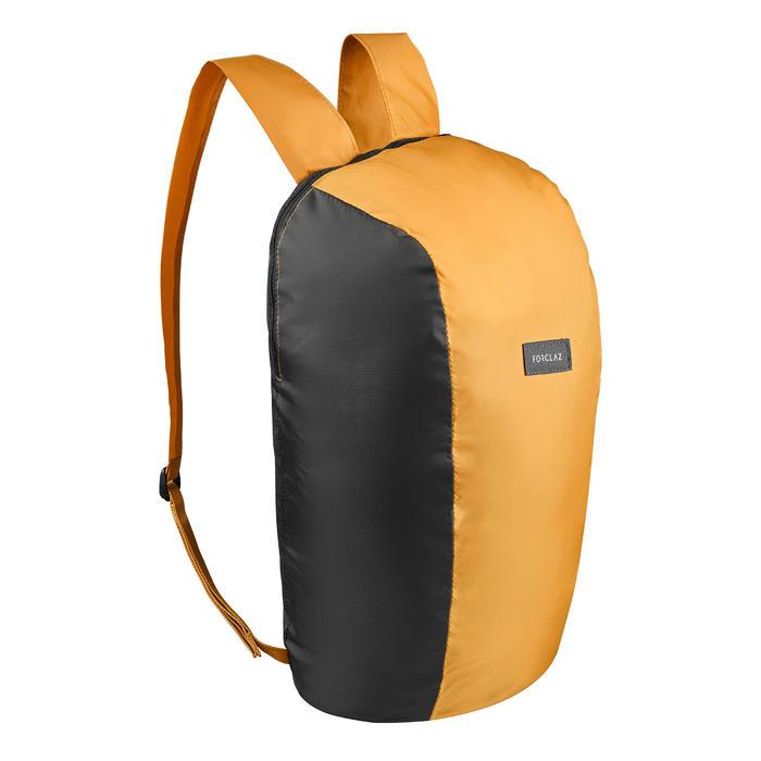 Compacte rugzak voor backpacken 10 liter Travel 100 geel