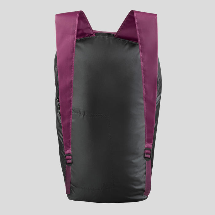 Sac à dos compact 10 litres trek voyage - TRAVEL 100 violet