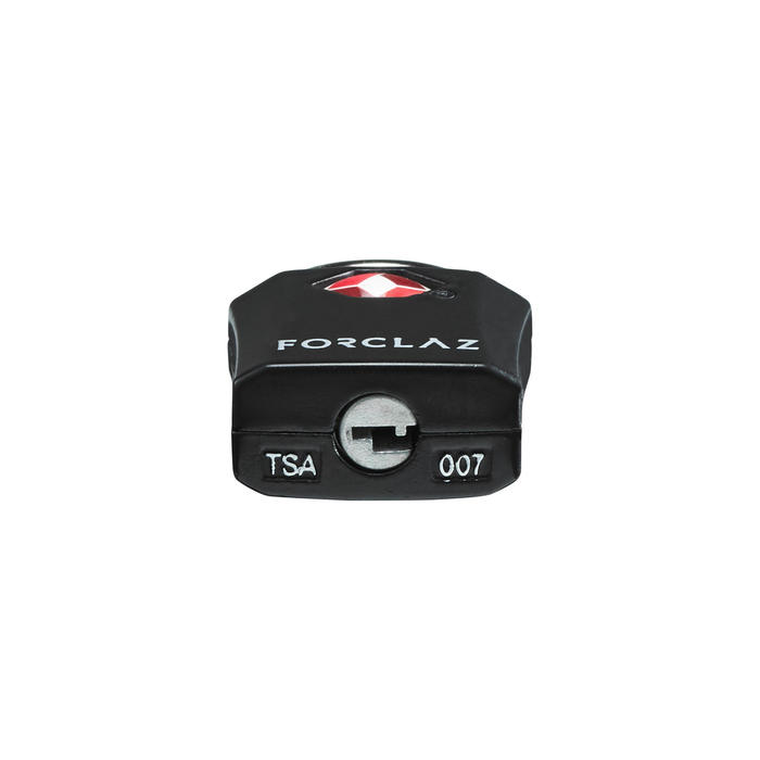 Set van 2 TSA-sleutelhangsloten zwart