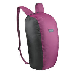 Compact 10 litre trekking travel rucksack TRAVEL 100 - Purple