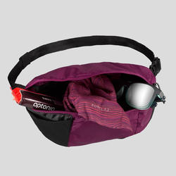 Compact 2 litre trekking travel bum bag TRAVEL 100 - Purple