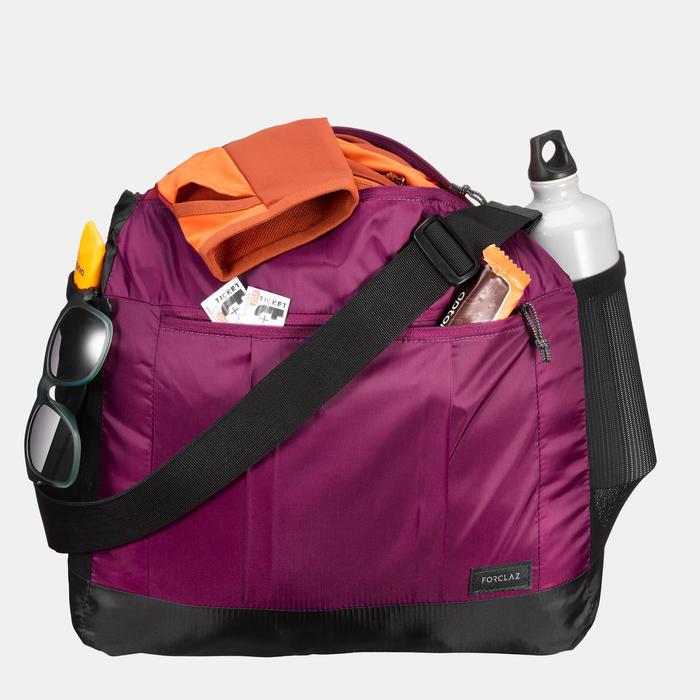 Bolsa Bandolera De Montaña y Trekking Viaje Forclaz 100 15L Compacta Violeta