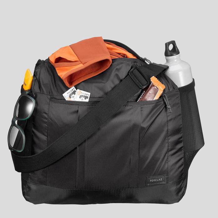 Bolsa Bandolera Montaña Trekking Viaje 15L compacta Forclaz TRAVEL100 Negro