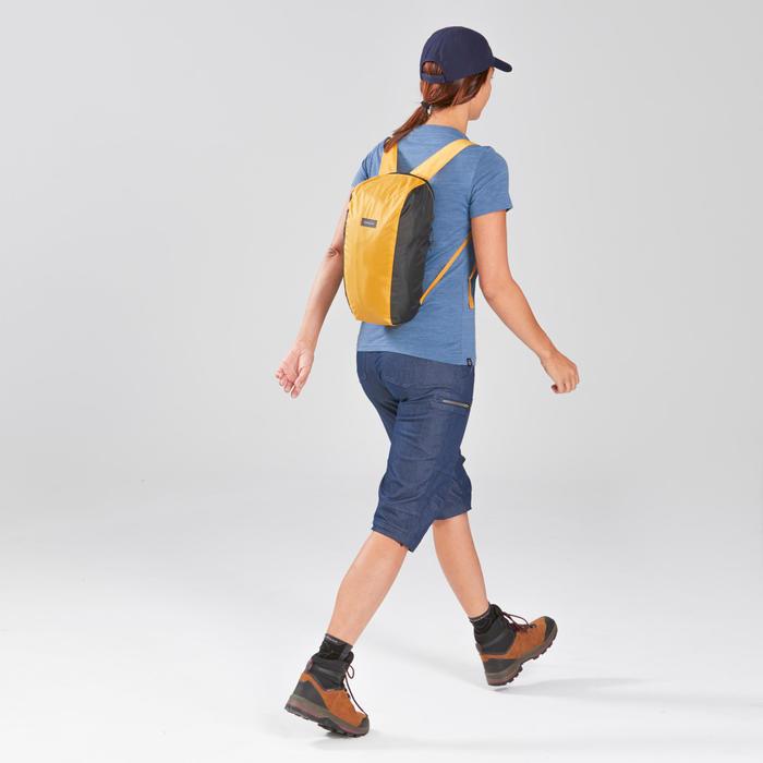 Sac à dos compact de trekking voyage TRAVEL 10L jaune