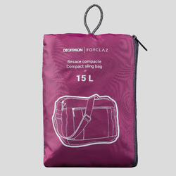 Besace compacte de trek voyage TRAVEL 15L violette