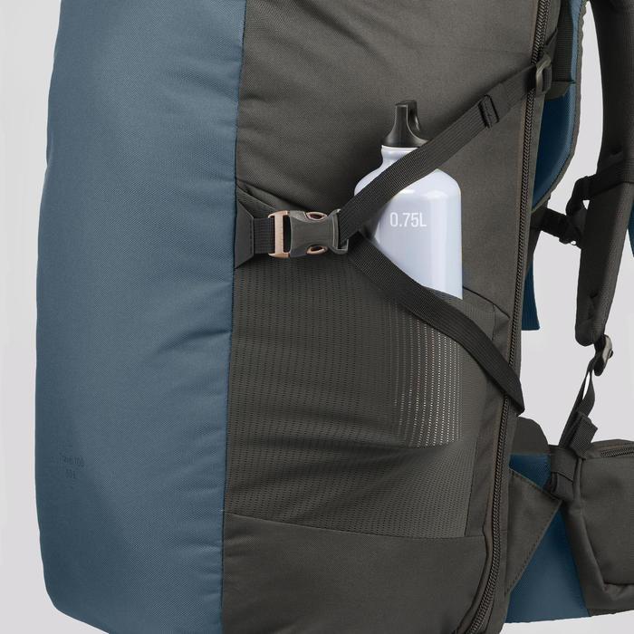 健行旅行背包40 L|TRAVEL 100-藍色