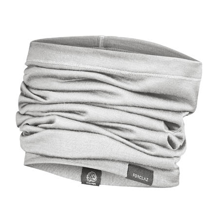 Trek 500 Mountain Trekking Multi-Position Merino Wool Headband - Grey