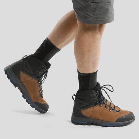 Botas de trekking montaña TREK100 piel hombre
