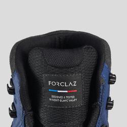 Chaussures imperméables de trek - TREKKING 100 synth bleu - femme