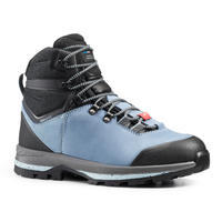 Trek 100 Wide Leather Trekking Boots - Women