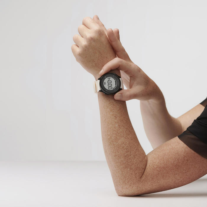 Cardiohorloge voor hardlopen HR 500 wit