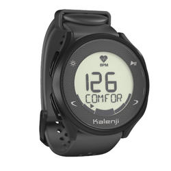 KALENJI HR 500 HEART RATE RUNNING WATCH - BLACK
