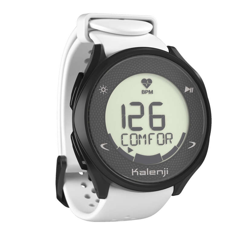 CARDIOFREQUENZIMETRO Running, Trail, Atletica - Orologio running HR 500 bianco KALENJI - Running, Trail, Atletica