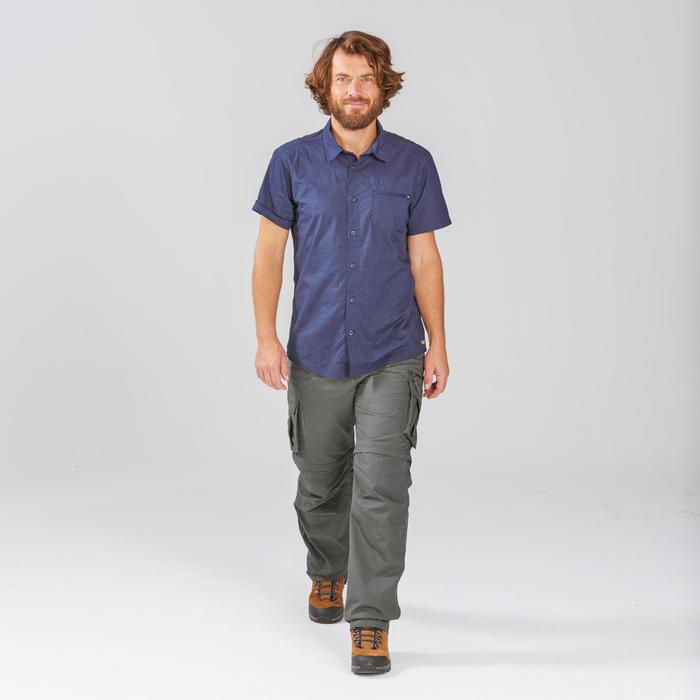 Pantalon cargo modulable de trek voyage - TRAVEL 100 MODUL kaki homme