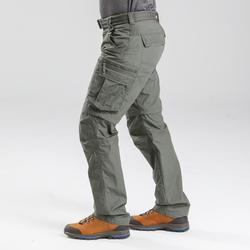 Pantalon de trek voyage - TRAVEL 100 MODUL kaki homme