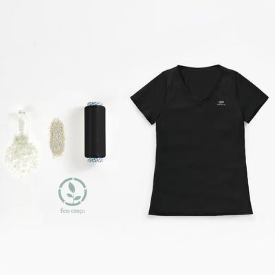 تيشيرت Run Dry للجري الخفيف للسيدات - أسود