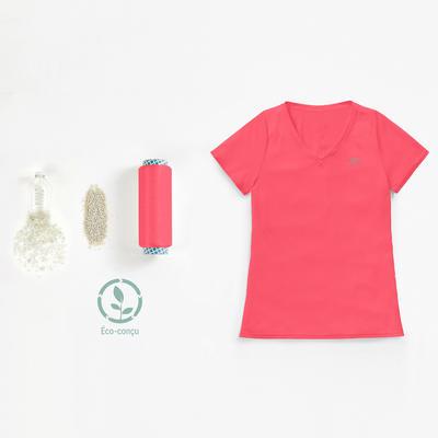 تيشيرت جري Run Dry للسيدات - لون مرجاني