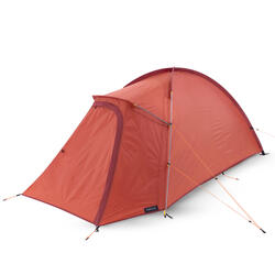 Trekking 3 Seasons Freestanding 2-Person Tent Trek 100 - Orange