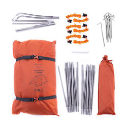 Vrijstaande koepeltent voor trekking 3 seizoenen Trek 100 oranje 2 personen
