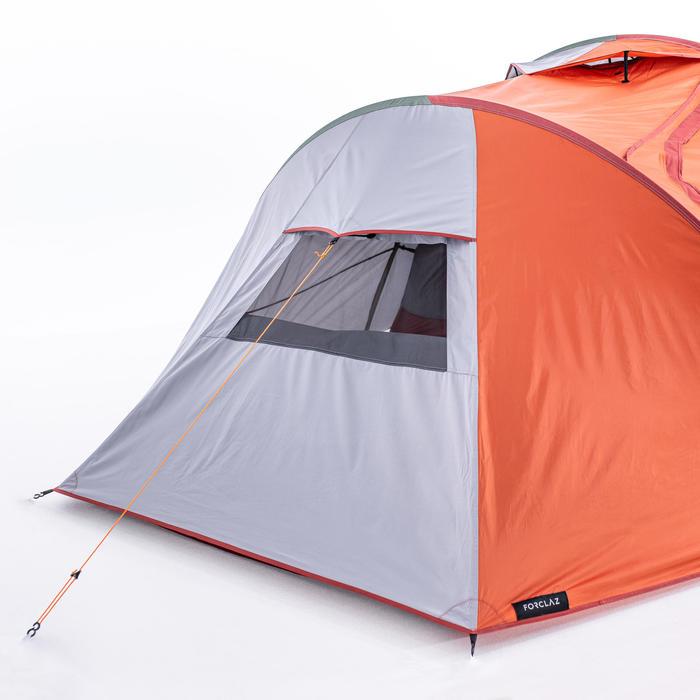 Tente tunnel de trekking 3 saisons - TREK 500 gris orange 4 personnes