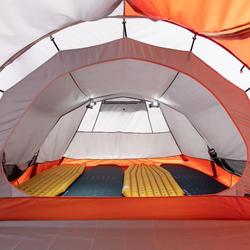 Tunneltent voor trekking 3 seizoenen Trek 500 grijs/oranje 4 personen