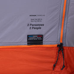 Lichtgewicht tent Trek 900 Ultralight - grijs - 2 personen