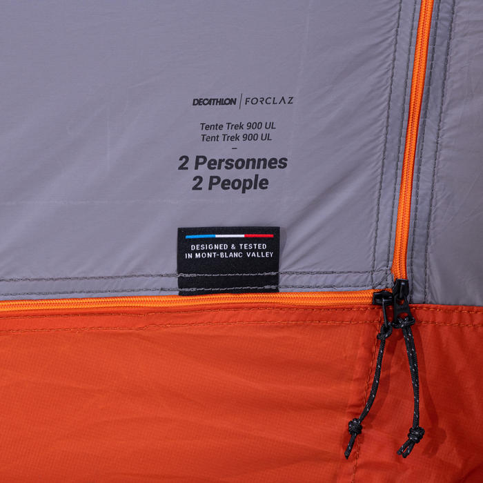 Tente tunnel de trekking - TREK 900 Ultralight 2 personnes grise