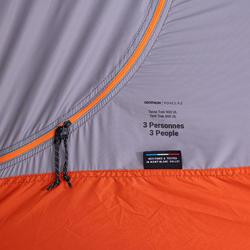 Tente tunnel de trekking - TREK 900 Ultralight 3 personnes grise