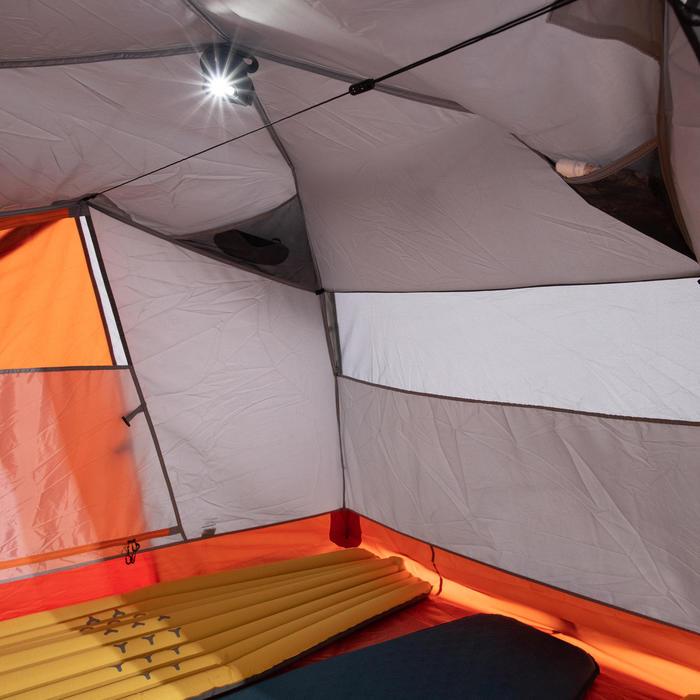 3人獨立式三季帳篷Trek 500-灰色/橘色