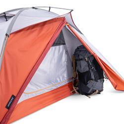 Self-standing 3 Seasons Dome Trekking 2 Person Tent - TREK 500 - Grey Orange