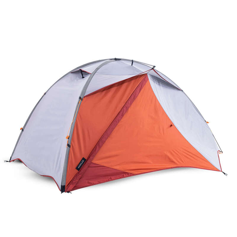TENTS, TENTS ACCESSORIES TREK Trekking - TENT TREK 500 2P - GREY ORANGE FORCLAZ - Trekking