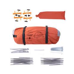Vrijstaande koepeltent trekking 3 seizoenen Trek 500 grijs/oranje 2 personen