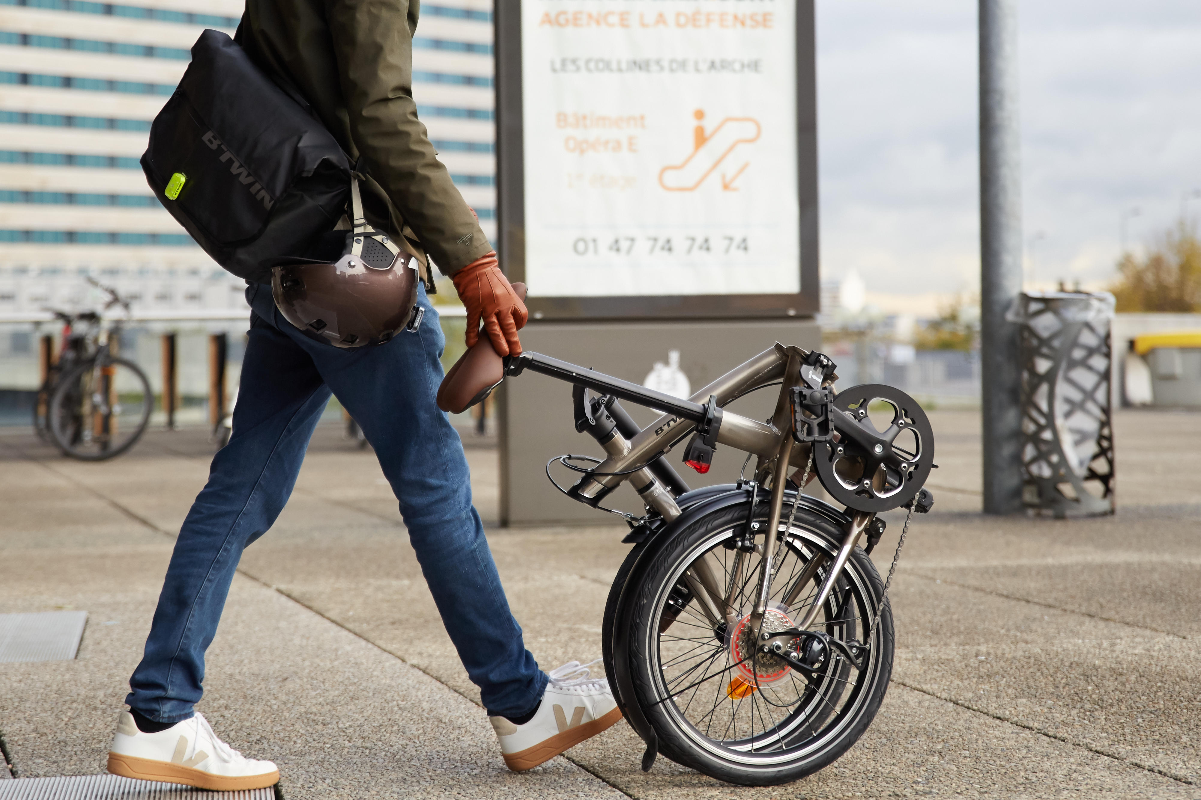 How to fold and unfold folding bike?